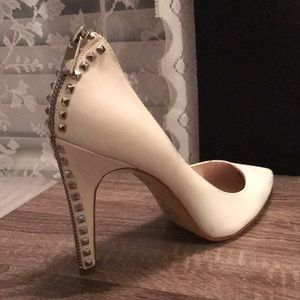 Michael Kors Zipper/ Stud Design Stiletto